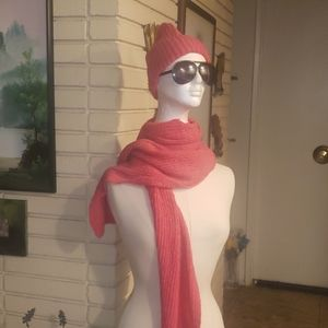Women SCARF AND knitted Hat Brand New